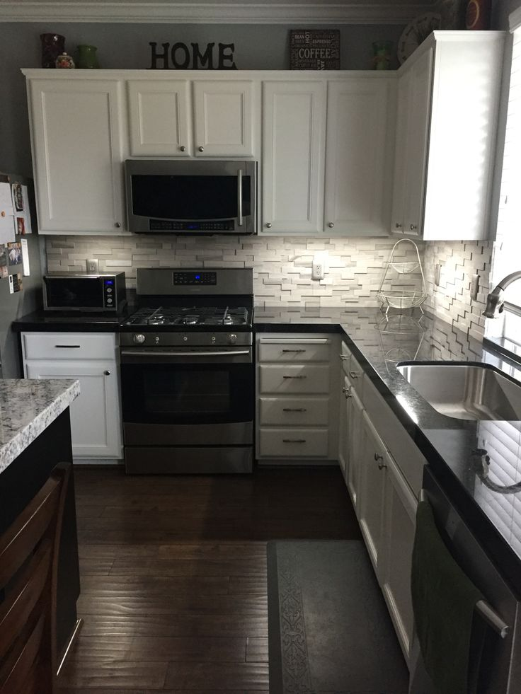 Black Granite With A Gray Stone Backsplash Part 72
