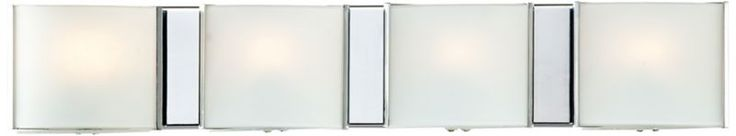 Frosted Glass Bands Possini Euro Bathroom Wall Light - #EUP5692 - Euro Style Lighting