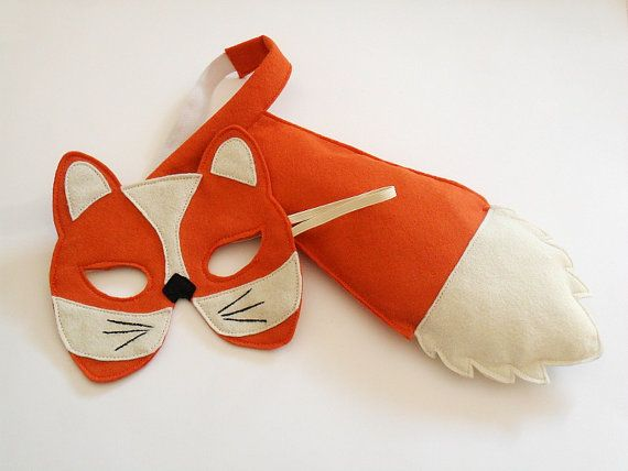 Fox Tail and Mask for Children Kids Animal Costume by BHBKidstyle, €23.00