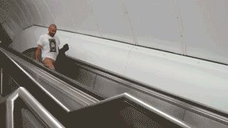people falling down stairs gif…