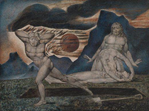 Le corps d'Abel trouvé par Adam et Ève, par William Blake