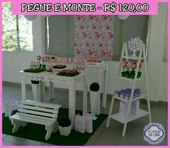 Kit Provencal Pegue E Monte Mesa 1 40 Mesa 1 00 Escadinha De