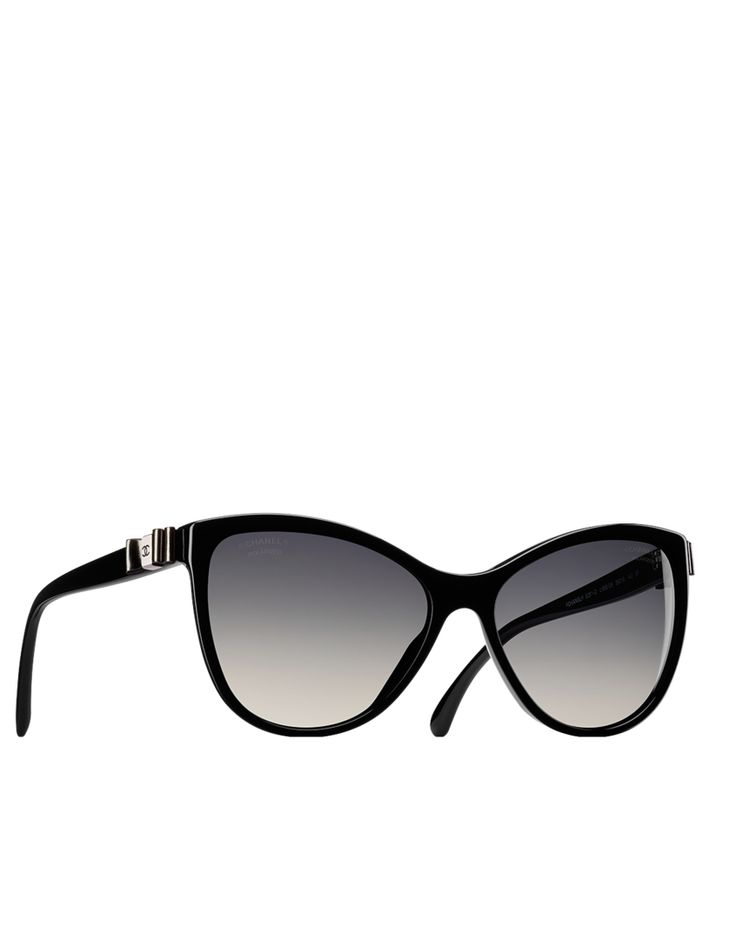 Butterfly acetate sunglasses with CC signed patent calfskin bows on temples | CHANEL | $470.00