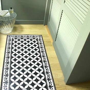 10 best images about tapis carreaux de ciment on pinterest - Tapis pvc carreaux de ciment ...