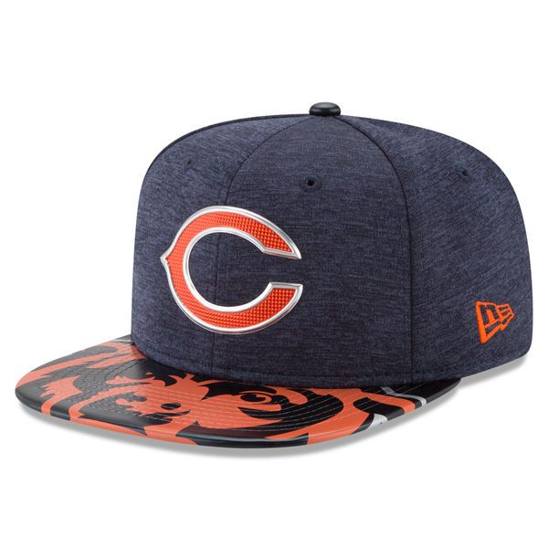 Chicago Bears New Era 2017 NFL Draft On Stage Original Fit 9FIFTY Snapback Adjustable Hat - Navy - $35.99