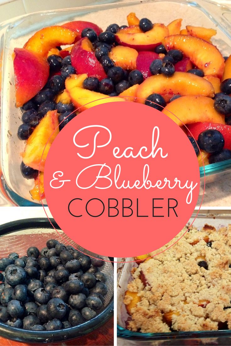 The amazing paleo peach and blueberry cobbler is so easy to make! And tastes sooo good!!