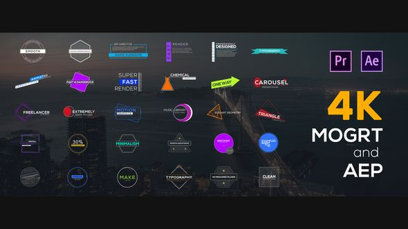 Free Download 30 Figured Titles For Premiere Pro And After Effects Mogrt Aep Premiere Pro After Effects Premiere