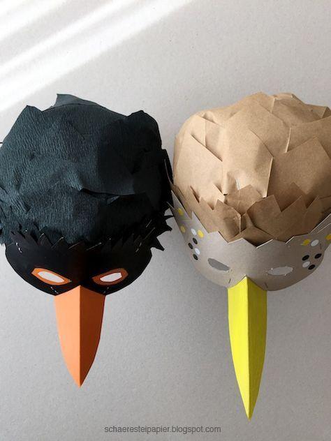 Bei den Masken sind mir die Vögel die Allerliebsten. Zur Vogelhochzeit am 25. Januar habe ich die Masken des Brautpaars gestaltet. Sie ...