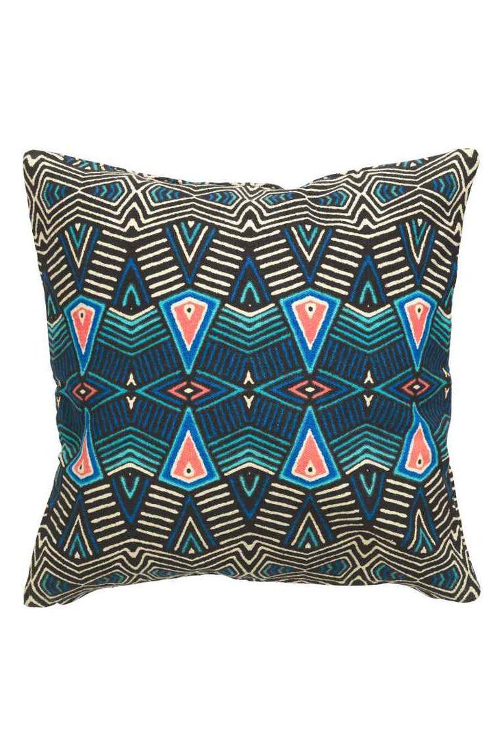 Poszewka na poduszkę: Poszewka na poduszkę z bawełnianej tkaniny we wzorzyste nadruki. Kryty suwak.