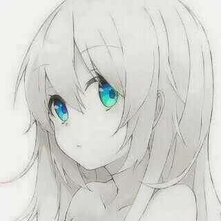 Monochrome anime girl with blue eyes wishes made - Anime girl with blue eyes ...