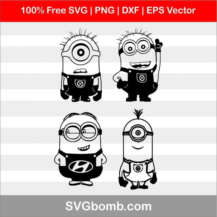 Minions Svg Image Bundles Cricut Svg Files Free Svg Minions