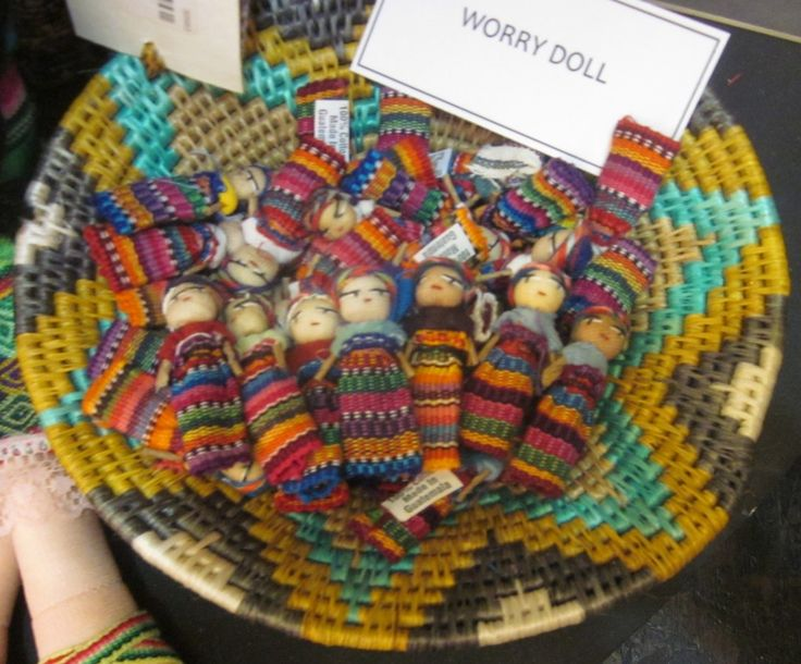 Don't worry, be happy w/ Worry Dolls in our #FairTrade Galleries