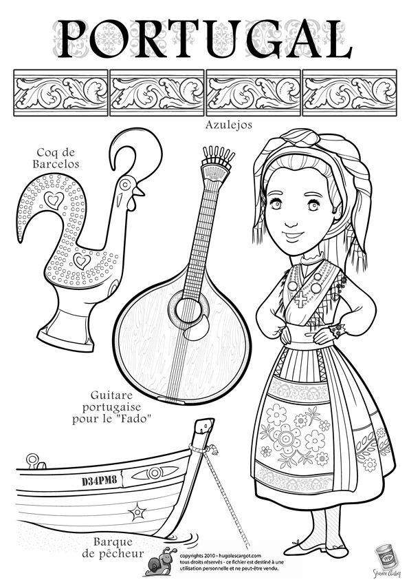 Coloriage dessin enfant portugal dessins coloriages - Dessin du portugal ...