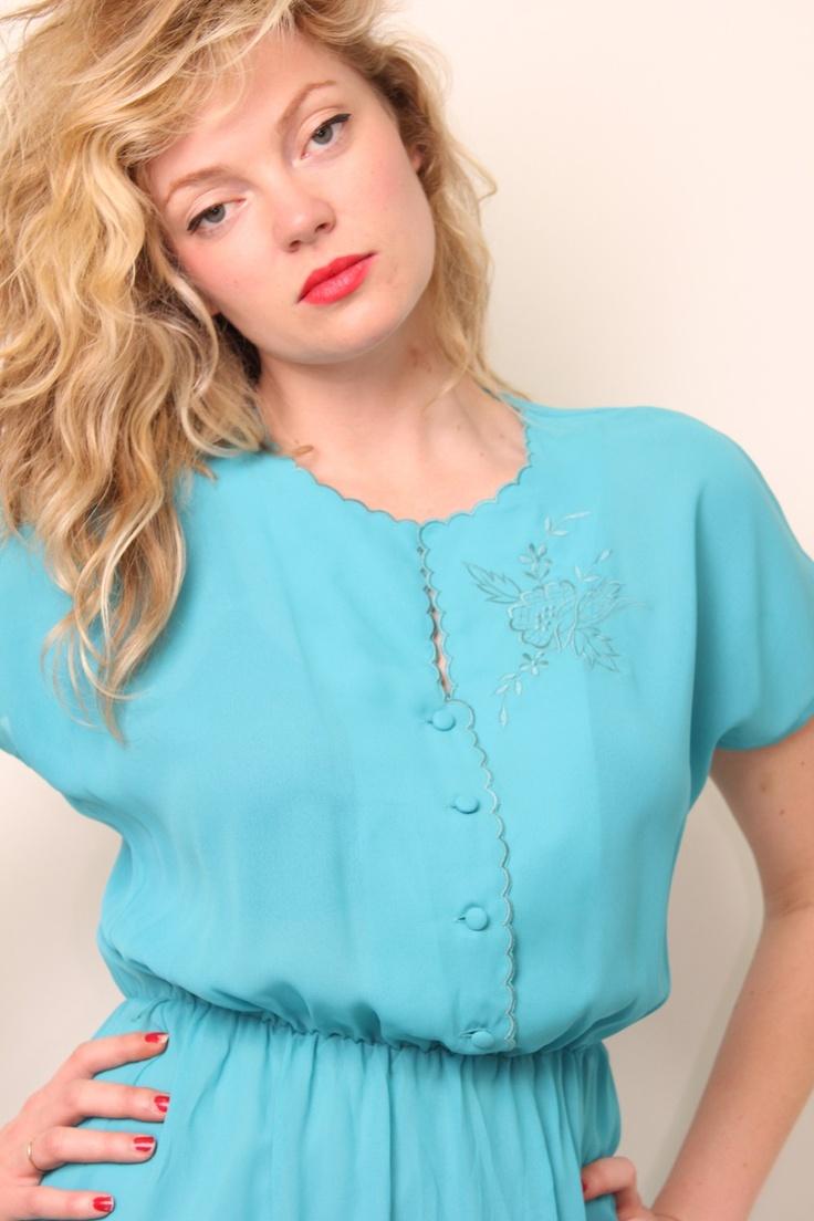 SALE~BLUE BIRD DAY DRESS  AU$45.00