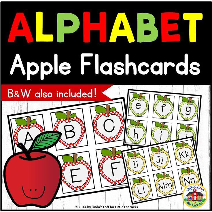 Apple alphabet flashcards with images alphabet