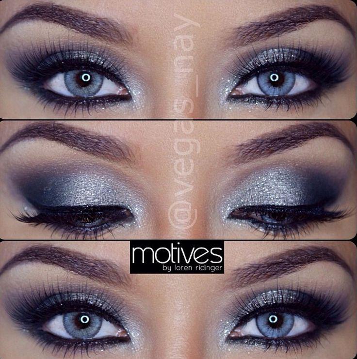 Grey and silver smokey eye