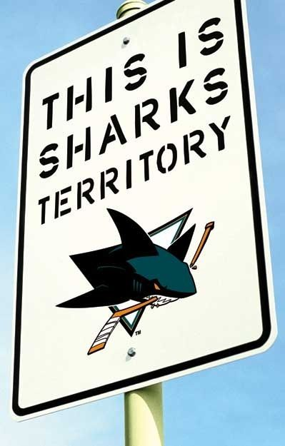 San Jose sharks NHL would be perfect for our sports room in the basement!!