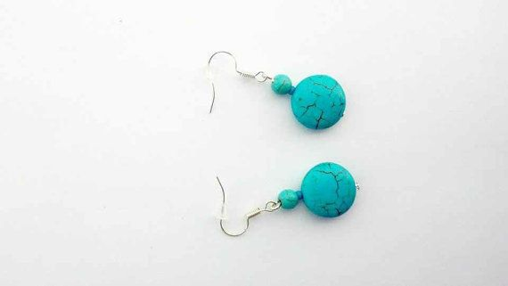 Turquoise Earrings Boho Earrings Dangle Earrings Women by CatiShop