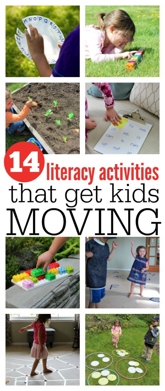 Gross motor literacy activities that get kids moving.