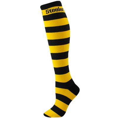 Pittsburgh Steelers Ladies Black-Gold Striped Rugby Socks