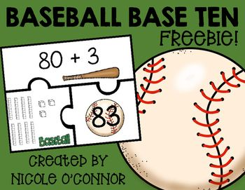 In this FREE math center, students match 2-3 digit numbers to their expanded form and base ten blocks! This center comes with a simple exit slip to check students' understanding!This center is included in my Baseball Math Centers! Clink the link to check it out!