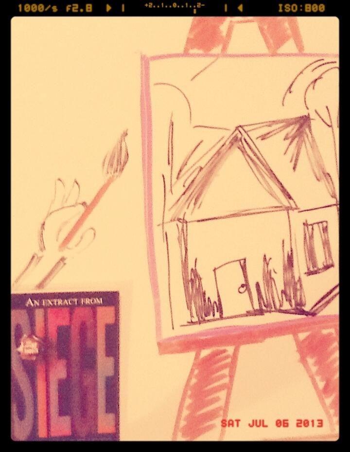 #4WinterFlings Keeping my date occupied by making it create a piece of art. - Nabeela (Twitter)