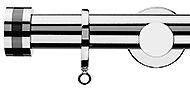 Integra Inspired Nuance 28mm Curtain Pole Chrome, Strata