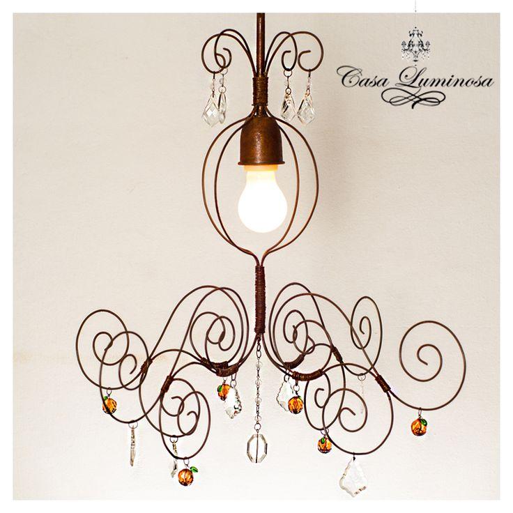 Casa Luminosa Lampara colgante vintage alambre oxido