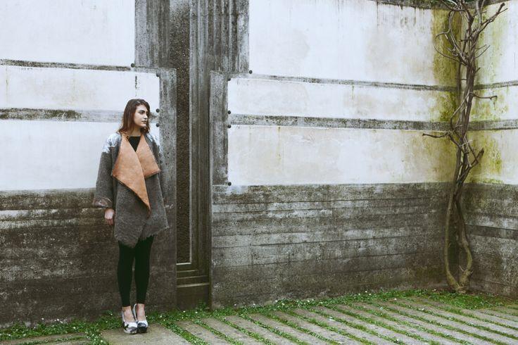 Felting and zero wate fashion clothing location in Tomba Brion  Photography : Monia Merlo