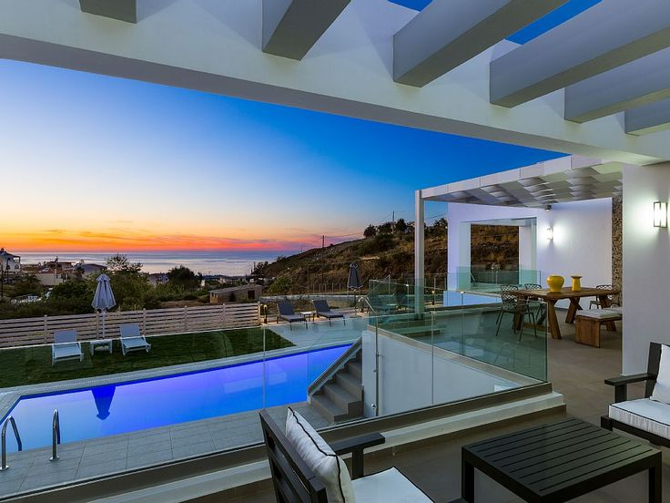Rethymno villa rental - Villa Eolia offers stunning sea views from almost everywhere you stand!