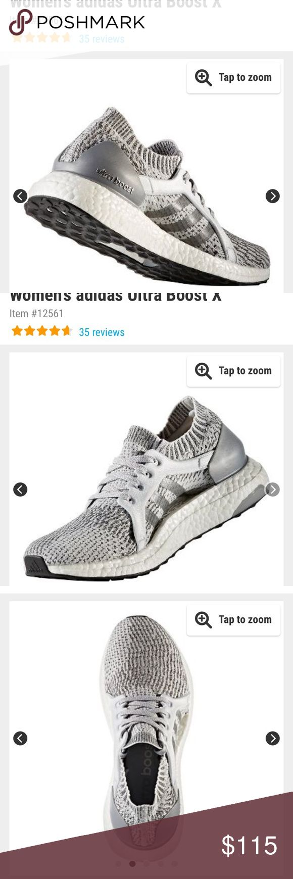 Adidas Ultra Boost X, grey and size 8 Adidas Ultra Boost X, grey and size 8  These are true to size and so comfortable! They've only been worn a handful of times. I thought I'd wear them for running but I don't run.. adidas Shoes Athletic Shoes