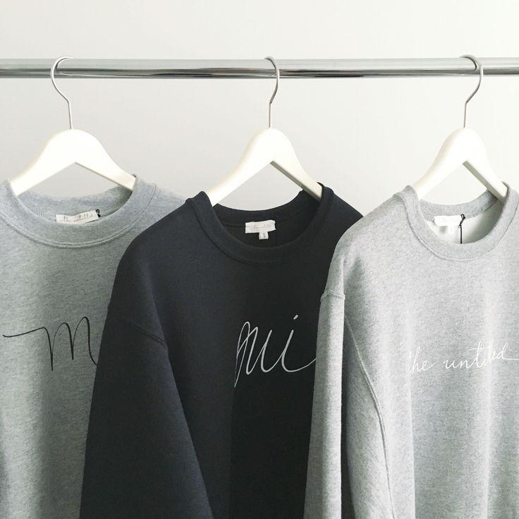 The Untitled Shop: Moi Sweatshirt, Oui Sweatshirt, The Untitled Logo Sweatshirt #iwearmoi #theuntitledshop #sweatshirt #calligraphy #moderncalligraphy