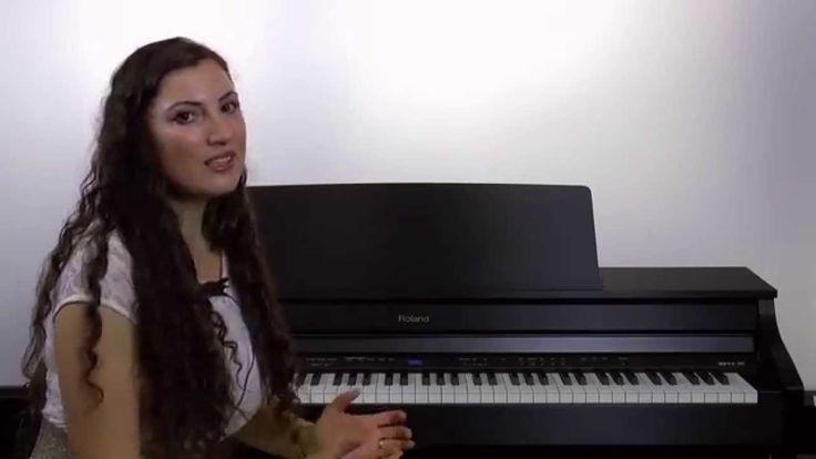Roland V-Lessons / Piyano Eğitimi Ders-1 (Başlangıç Seviyesi)