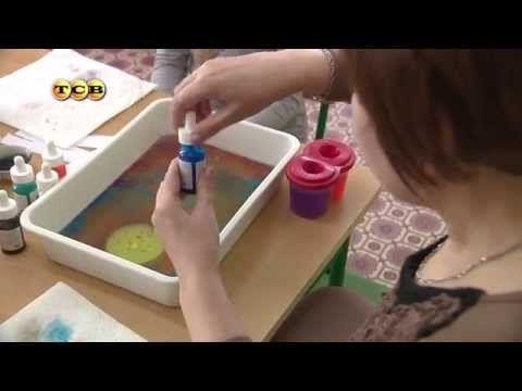 Необычное рисование с детьми/ Рисуем по клею ПВА/Rita Rylikova - YouTube