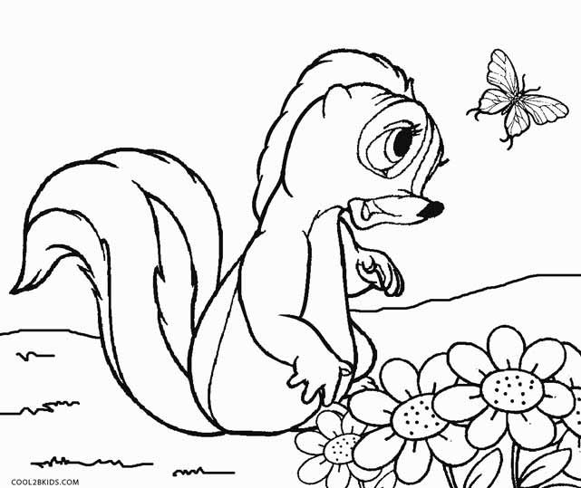 Bambi Smiling Stand Coloring Pages