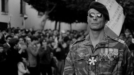 THE BATTLE OF ALGIERS LA BATTAGLIA DI ALGERI WATCH TRAILER directed by GILLO PONTECORVO Italy, 1966t was shot on location and the film score was composed by Ennio Morricone. The film, which was shot in a Rossellini-inspired newsreel style—in black and white with documentary-type editing—is often associated with Italian neorealism cinema.[1]  The film has been critically celebrated and often taken, by insurgent groups and states alike, as an important commentary on urban guerrilla warfare.
