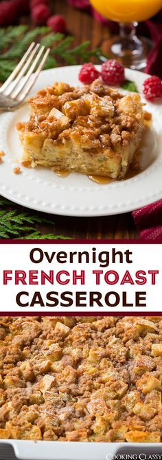 Overnight French Toast Casserole - one of the BEST ways to make French toast! Absolutely love this!