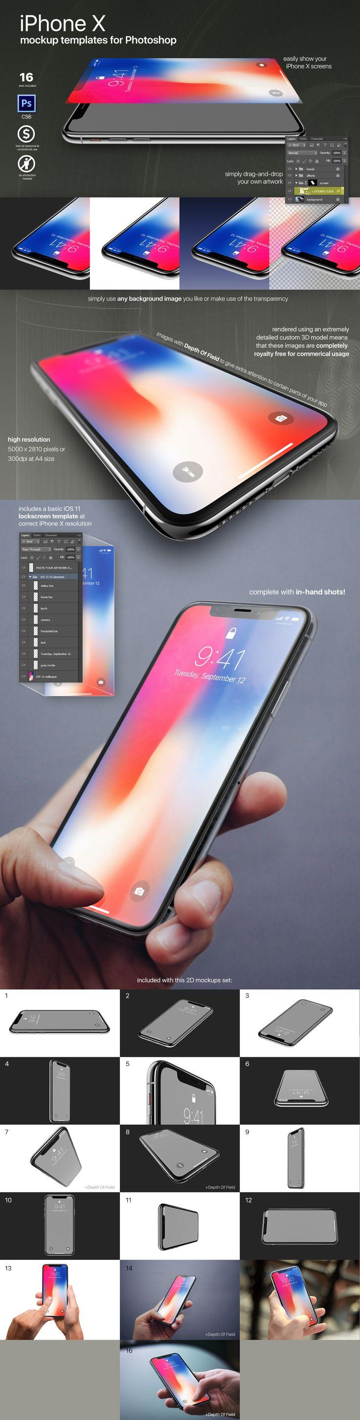 iPhone X photoshop mockups