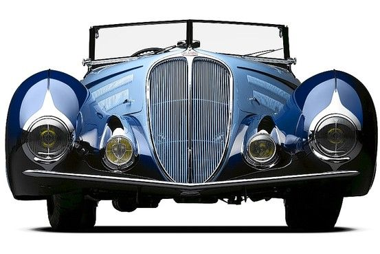 1938 Delahaye 135 M from 'French Curves' by Richard Adatta and Shana Hinds. Photo by Michael Furman via WSJ #Cars #Delahaye_135M #Michael_Furman #Richard_Adatta #Shana_Hinds