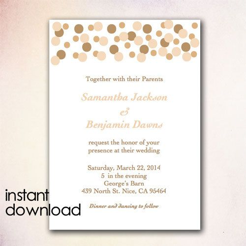 24 best images about diy wedding invitation templates instant download on pinterest for Instant download invitations