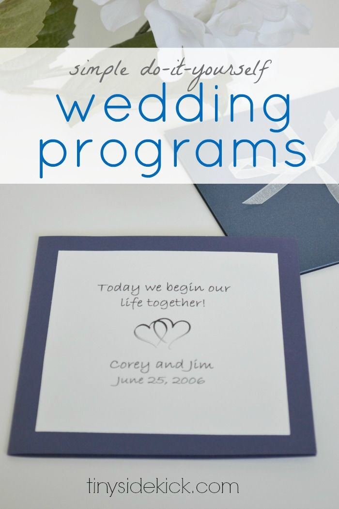 127 best wedding invites programs images on pinterest coding 3 simple do it yourself wedding ideas solutioingenieria Image collections