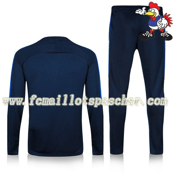 Solde Homme : Survetement De Football Barcelona Club Bleu Marine 2016 17 18 france Discount