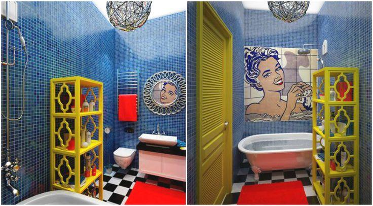 Дизайн ванной комнаты в стиле поп-арт #interior #мебель #дизайн #интерьер #дом #уют #декор