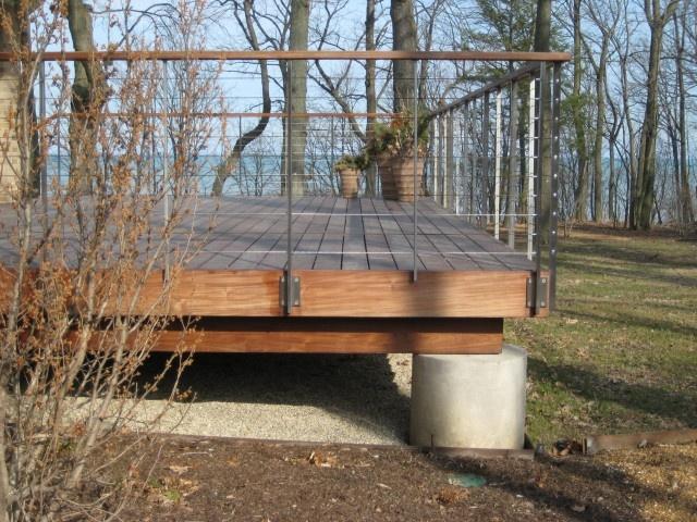Deck With Modern Railing Decks Pinterest