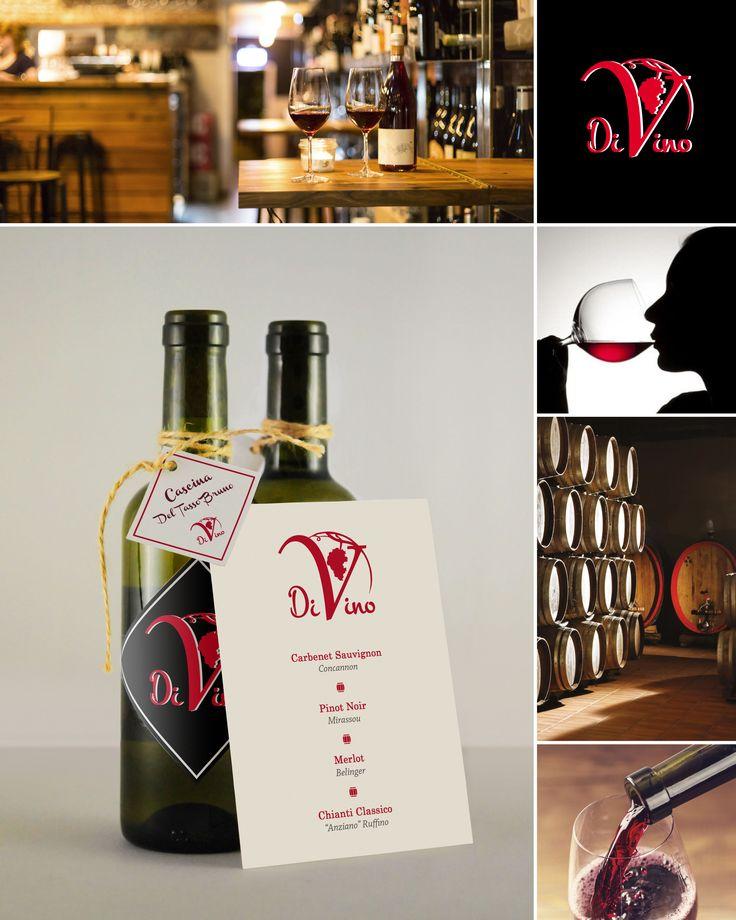#grafichenuovatipografia #grafiche #nuova #tipografia #logo #coordinamento ##loghi #presentazione #wine #vino #bottle #bottiglia #divino #divine #menu #Concept #packaging