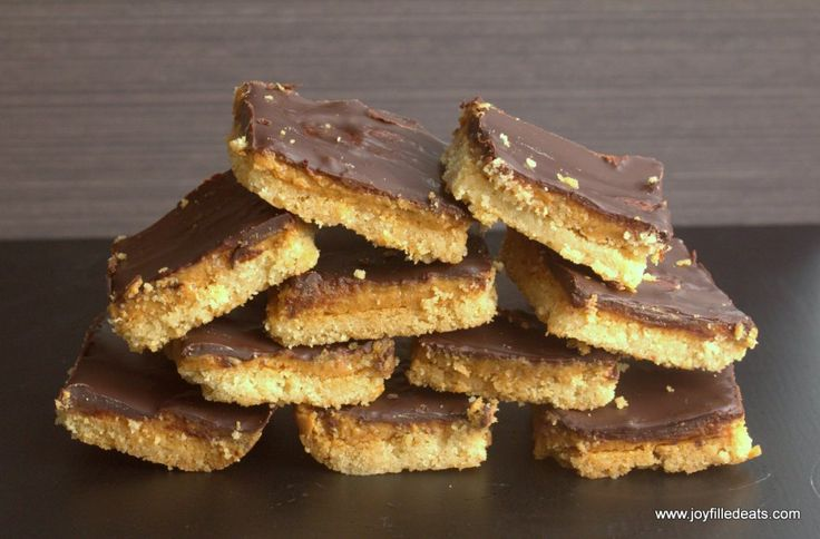 Tagalong Cookie Bars - Low Carb, Gluten/Grain/Sugar/Egg Free, THM S