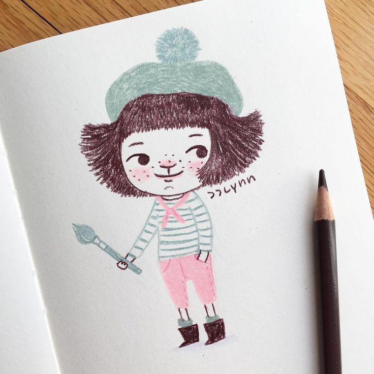 Have a wonderful day!! 오늘 하루도 화이팅하자!! 가끔은 지칠때도 있지만, 스스로를 다독이고, 응원하면서...힘내자!! . . . #illustration #artist #artistsoninstagram #doodle #moleskine #drawing #dailydrawing #illustrator #illustratorsoninstagram #jjlynndesign #character #colorpencil #girl #그림 #일러스트 #드로잉 #몰스킨 #데일리드로잉 #낙서 #그림쟁이 #제이제이린 #스케치북 #손그림 #캐릭터 #소녀 #색연필