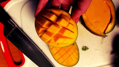 how to cut a mango  zweites Frühstück - second breakfast