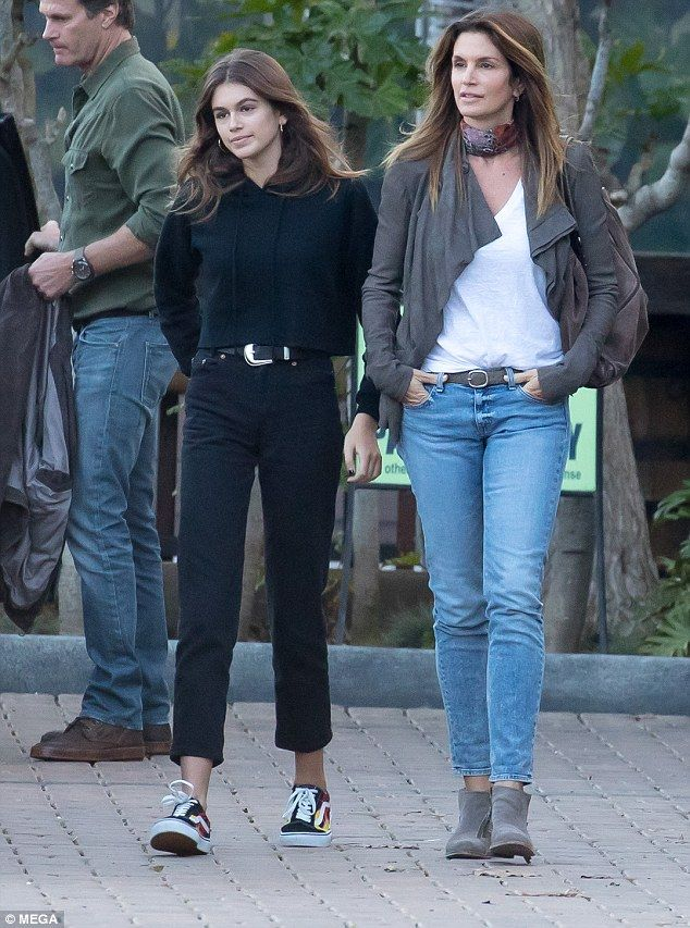 Family fun: Heading out for a shopping trip in Malibu on Wednesday, Cindy Crawford and her mini-me daughter, Kaia, 16, spent some quality time together