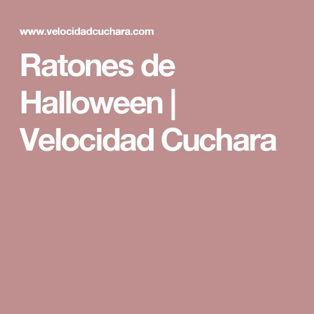 Ratones de Halloween | Velocidad Cuchara